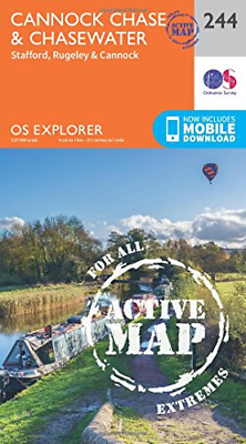 £9.24 • Buy OS Explorer Map Active (244) Cannock Chase, Very Good Condition Book, Ordnance S