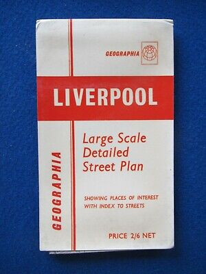 £8.95 • Buy Geographia Official Street Map & Street Index - Liverpool   C1968