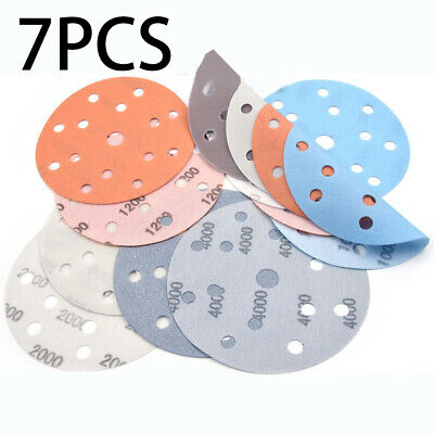 AU15.06 • Buy 7PCS 6  Waterproof Hook And Loop Wet/Dry Auto Body Film Sanding Discs 600#-4000#