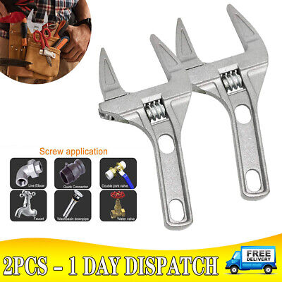 £7.99 • Buy Adjustable 6-68MM Convenient Large Spanner Wrench Opening Plumber Reliable Tool