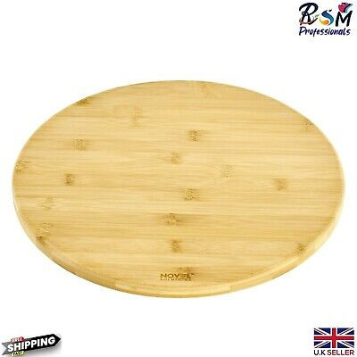 £17.45 • Buy Solid Wooden Rotating Tray Lazy Susan Bamboo Wood Serving Plate Stable Base 35cm