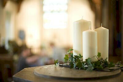 £7.70 • Buy Church Candles - Classic Ivory Design - Long Burn Time - Unscented