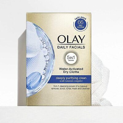 AU16.95 • Buy Pack Of 33 Olay Daily Facials 5 In 1 Water Activated Dry Cloths