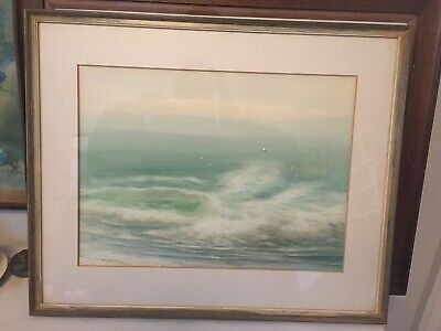 Original Seascape Of Rough Seas And Seagulls  Watercolour Painting • 20£