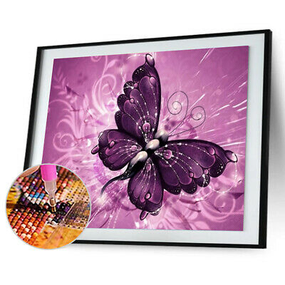 AU2.25 • Buy Butterfly Painting Embroidery DIY 5D Diamond Cross Stitch Home Crafts Decor R1BO