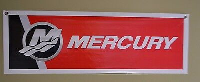 AU25.44 • Buy Mercury Red Outboard Marin  Motor Sign Banner Fishing Bass Boat