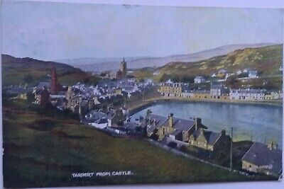 TARBERT From CASTLE Townview Argyll & Bute Vintage Colour PC To Falkirk 1929 • 2£