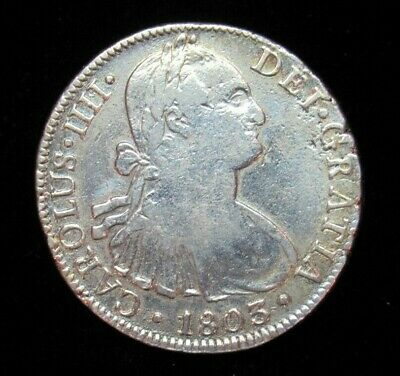 AU66.20 • Buy 1803 Mo/ft Mexico  8 Reales Silver Coin #5469