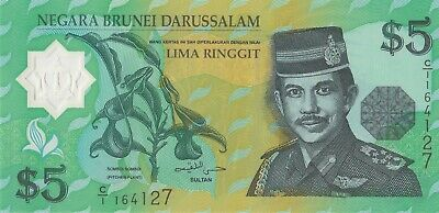 AU10 • Buy Brunei 5 Ringgit 1996 Banknote P23a Money Sultan AUNC