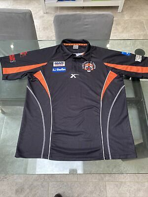 Castleford Tigers Rugby League Shirt Size XXL A.j.glassfibre 2310 • 6£