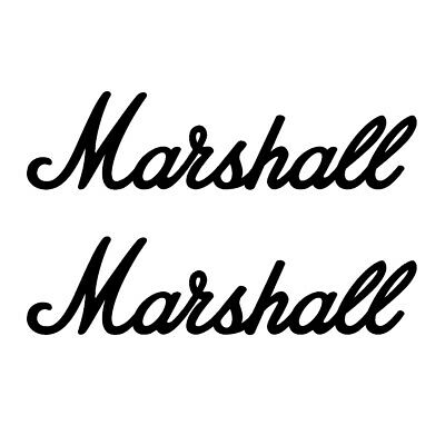 £1.99 • Buy 2 X Marshall  Amp Vinyl Decal Replacement Stickers, Guitar Amplifier Music Logo