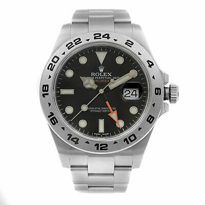 $ CDN12699.06 • Buy Rolex Explorer II GMT Stainless Steel Black Dial Automatic Mens Watch 216570BKSO