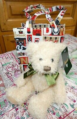 £14.50 • Buy HARRODS Iconic London Teddy Bear In A Shopping Bag - NEW With Tag - RRP £17.00