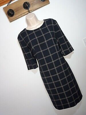 AU6.26 • Buy **HOBBS** Sz 14 Blue Check Shift Dress