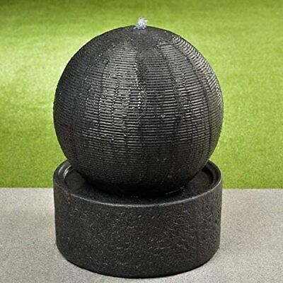 £215.99 • Buy Stunning Outdoor Garden Decorative Ornament Light Up Ribbed Ball Water Feature -