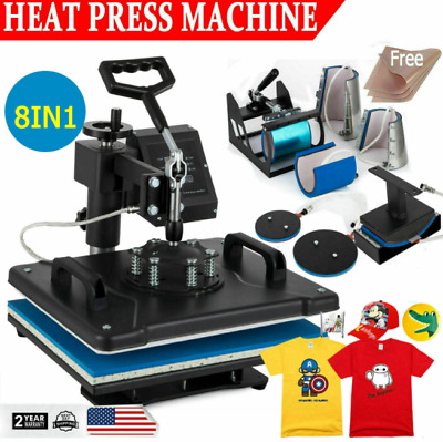 AU116.65 • Buy 8 In 1 Heat Press Machine Digital Transfer Sublimation Plate T-Shirt Mug 12 X15