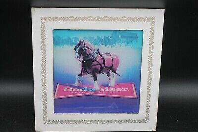 $ CDN31.11 • Buy Vtg Carnival Prize Mirror Budweiser Clydesdale Horse Glass Picture