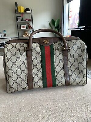 AU689 • Buy Preowned Gucci Boston Bag Size 30