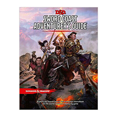AU50.50 • Buy D&D Sword Coast Adventure Guide - Hard Cover 5th Edition Book Dungeons & Dragons