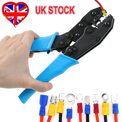 £9.95 • Buy 9  Ratchet Crimper Cable Wire Terminals Electrical Plier Crimping Tool Set Kit~
