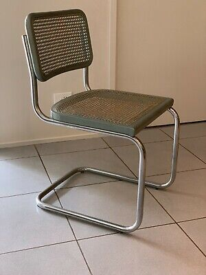 AU1500 • Buy Marcel Breuer Cesca Style Chairs, Timber, Chrome, Rattan; Set Of 8