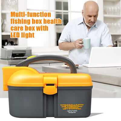 £9.90 • Buy Multifunctional Storage Tray Tool Box Electrician With LED Light Home Organizer