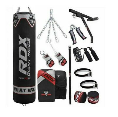 AU210 • Buy RDX X1 4ft / 5ft 17-in-1 Heavy Boxing Punch Bag & Mitts Set