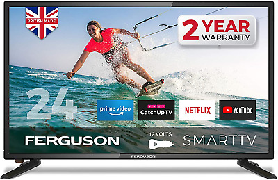 £241.15 • Buy Ferguson F24RTS-12 Volt 24 Inch Smart 12-volt LED TV With Streaming Apps And Up