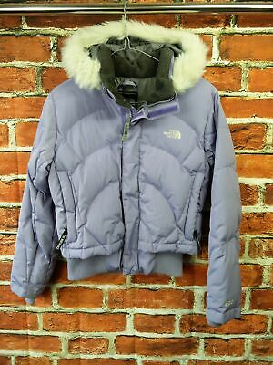 £39.99 • Buy Girls The North Face 600 Size Medium Lilac Faux Fur Hood Goose Down Padded Coat
