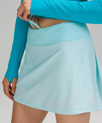 """$ CDN138.44 • Buy Lululemon Pace Rival Skirt Tall15""""~heather Lux Multi Icing Blue~10~nwt Free Ship"""