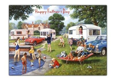 £2.75 • Buy Father's Day/Birthday Card For Men Dad Grandad Brother Uncle Caravan Holiday
