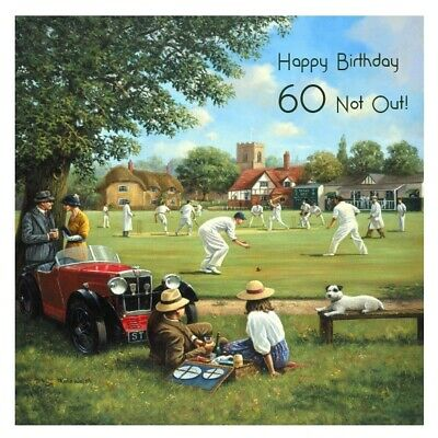 £2.75 • Buy Father's Day/Birthday Card For Men Dad Grandad Brother Uncle Cricket Scene