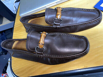 AU218.93 • Buy GUCCI Men's Driving Loafers W/Bamboo Bit - Brown Size 7 G