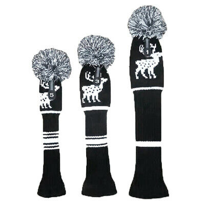 AU24.55 • Buy Golf Clubs 3 Pcs/Set Knitted Hybrid UT Driver Fairway Wood Golf Head Covers V7W9