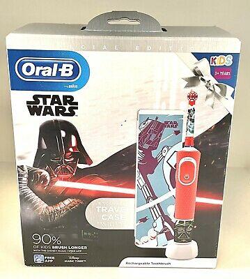 AU32.49 • Buy Oral-B KIDS 3+ Star Wars Electric Toothbrush Giftset With Travel Case