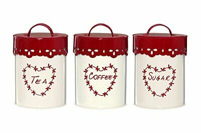 £27.99 • Buy Premier Housewares 507620 Anglaise Tea/Coffee And Sugar Canisters - Set Of 3,