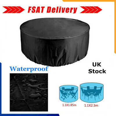 £11.49 • Buy Large Round Waterproof Furniture Cover Outdoor Garden Patio Table Chair Set UK