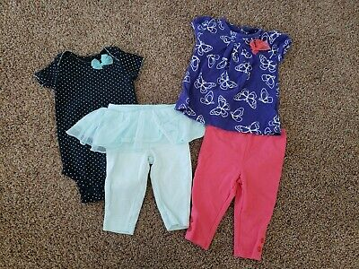 AU5.43 • Buy Baby Girl Clothes Lot Size 3 Months,  0-3 Month Outfits, Purple Top