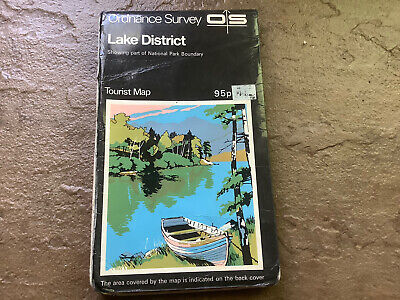 Ordnance Survey Tourist Map Of The Lake District, Covers Keswick,Windermere, Etc • 1.99£