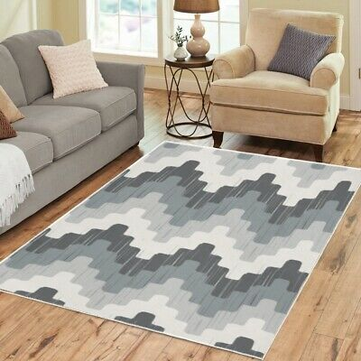 AU114.76 • Buy Mod Pattern Area Rugs Retro Vintage 70s Funky Carpet - 3 Sizes To Choose From