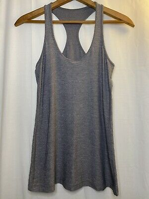 $ CDN24.17 • Buy Lululemon Cool Racerback Tank Top Heathered Slate Grey Light Luon W1726S Size 4