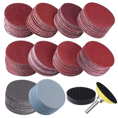 AU13.99 • Buy 200Pcs 50mm 2 Inch Sander Disc Sanding Discs 80-3000 Grit Paper With 1Inch  C3Y7