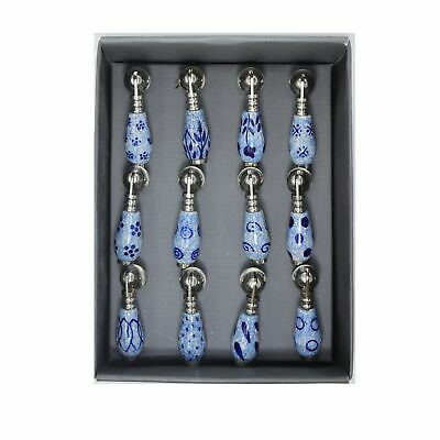 £4.95 • Buy Blue And White Willow Ceramic Drawer Cupboard Tear Drop Pull Knob Handle Handle