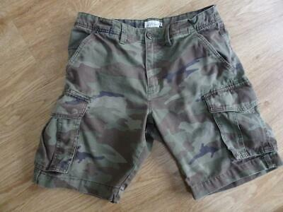 NEXT Mens Green Camouflage Cargo Utility Shorts WAIST 32 EXCELLENT COND • 0.99£