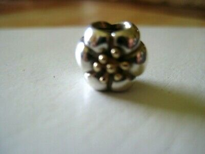AU40 • Buy Genuine Pandora Flower Charm Sterling Silver And 14ct Gold 925 Ale