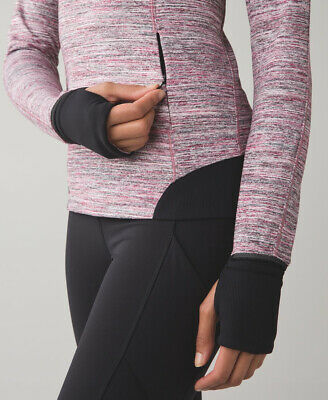 $ CDN48.47 • Buy Perfect LULULEMON Runderful 1/2 Zip Pullover Shirt *Rulu Space Dye Camo Berry-12