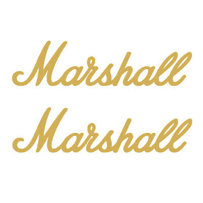 £1.99 • Buy 2 X Marshall Amp Vinyl Decal Gold Stickers, Guitar Amplifier Music Logo