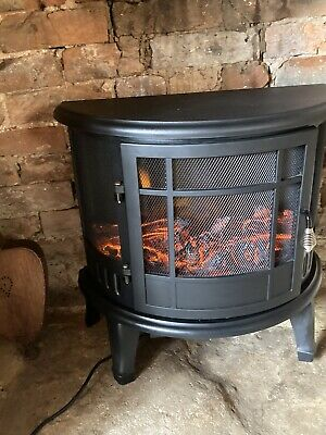 £90 • Buy Fireplace Electric Heater Metal Log Burning Flame Effect Living Room Stove 1800W