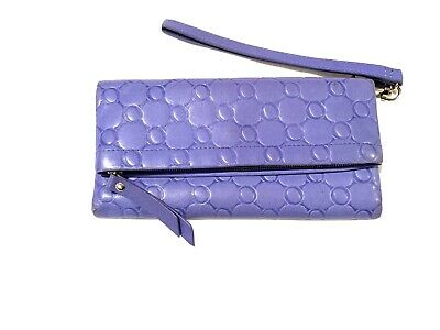AU40 • Buy OROTON LILAC BLUE Leather WALLET With Wrist Lanyard