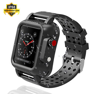 AU30.78 • Buy Waterproof Case With Band Strap For Apple Watch IWatch Series 6 5 4 3 2 1 SE